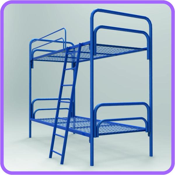 Прочные кровати металлические для строителей в бытовки 5